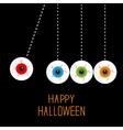 Hanging eyeballs bloody streaks Perpetual motion vector image vector image