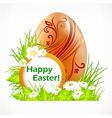 happy easter eggs signboard vector image vector image