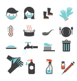 Health and Sanitation Icons Set vector image