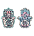 Indian hand drawn hamsa with ornaments vector image vector image