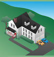isometric 3d country house vector image