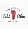 Japanese Ninja Logo Footwear insignia design vector image