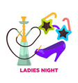 ladies night party or dance music club vector image