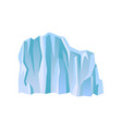 large blue iceberg or ice mountain with lights and vector image vector image
