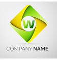 Letter W logo symbol in the colorful rhombus vector image