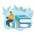 man read book vector image