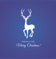 merry christmas and festive deer vector image