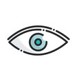 ophthalmology vision health care medical line and vector image