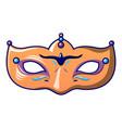 orange carnival mask icon cartoon style vector image vector image