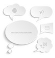 paper speech bubbles set white vector image