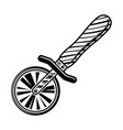 pizza cutter or slicer graphic object vector image