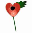 poppy heart vector image vector image