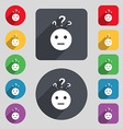 question mark and man incomprehension icon sign A vector image vector image