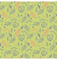 Seamless pattern with weed flowers and birds vector image vector image