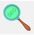 seo optimization icon cartoon style vector image vector image