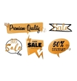 set of talk and think bubbles sale group vector image vector image