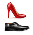shoes realistic set vector image vector image