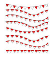 simple bundle 8 different wave and shape garland vector image vector image