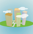 Small city vector image vector image
