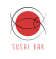 sushi design logo abstract fish tuna japanese vector image
