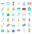 toothpaste icons set cartoon style vector image vector image