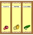 VegetableBanners vector image vector image