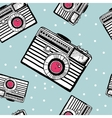 Vintage camera pattern vector image