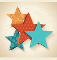 vintage colorful 3d stars pattern vector image