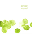 Watercolor background for layout green drops vector image vector image