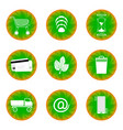 web button for website green with white vector image vector image