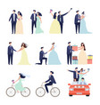 wedding ceremonial bundle marriage love couples vector image