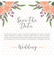 wedding flowers leaves dots background save the vector image vector image