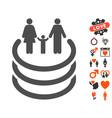 family portal icon with dating bonus vector image