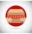 Dekivery box flat icon vector image