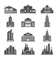 monochrome silhouettes of different modern vector image