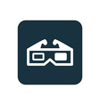 3d movie icon Rounded squares button