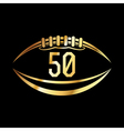 American Football 50 Icon vector image vector image