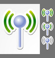 antenne graphics with signal strenght vector image vector image
