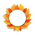 Autumn Blank Frame with Colorful Leaves Isolated vector image
