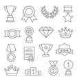awards line icons set on white vector image vector image