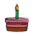 bakery birthday cake vector image