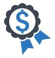 Bank Award Flat Icon vector image