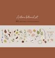 botanical autumn set