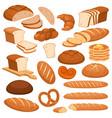 cartoon bread bakery rye products wheat