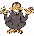 chimpanzee ape animal cartoon vector image