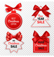 christmas sale labels holidays discount price vector image vector image