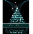 Christmas tree blue and silver vector image vector image