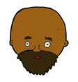comic cartoon shocked man with beard vector image vector image