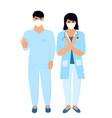 covid19-19 coronavirus epidemic doctors vector image vector image