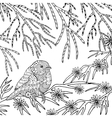 Cute bird coloring page vector image vector image